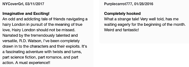 Hairy London audio reviews.png